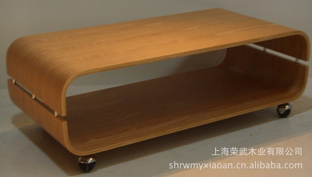 U Bend Wood Coffee Table Curved Soft Fine Texture