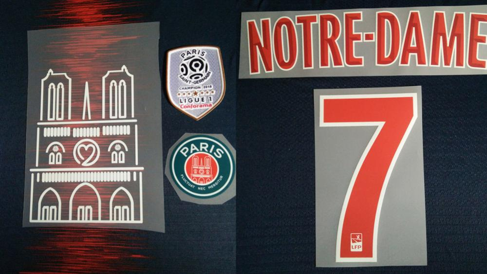 Flocage Football Nameset Jersey PSG HOME NEYMAR JR 2017-2018 OOREDOO