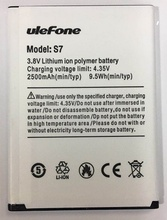 matcheasy Mobile phone battery Ulefone S7 2500mAh 5.0inch MTK6580 Original Accessories