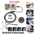 Impermeable 480 P HD 7mm lente de Inspección de Tuberías 1 m Mini Endoscopio del USB cámara Boroscopio Serpiente Del Tubo con 6 LEDs Para El Teléfono Androide PC