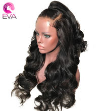 360 Lace Frontal Wig Pre Plucked Hairline With Baby Hair Brazilian Body Wave Lace Front Human Hair Wigs Remy hair Wigs EVA Hair(China)