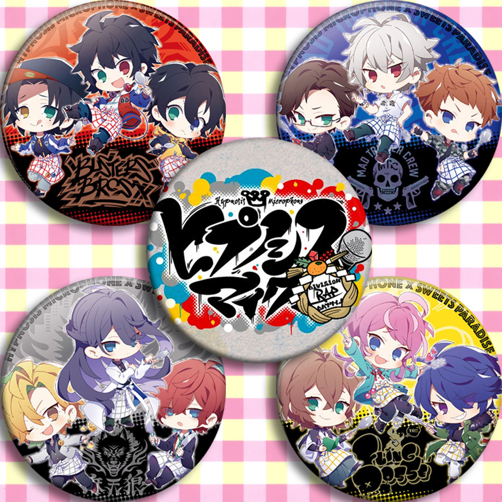 DRP HypnosisMic Division Rap Battle Doppo Izanami Iruma Arisugawa Ramuda Jinguji Group Cosplay Prop Emblem Badge Brooch