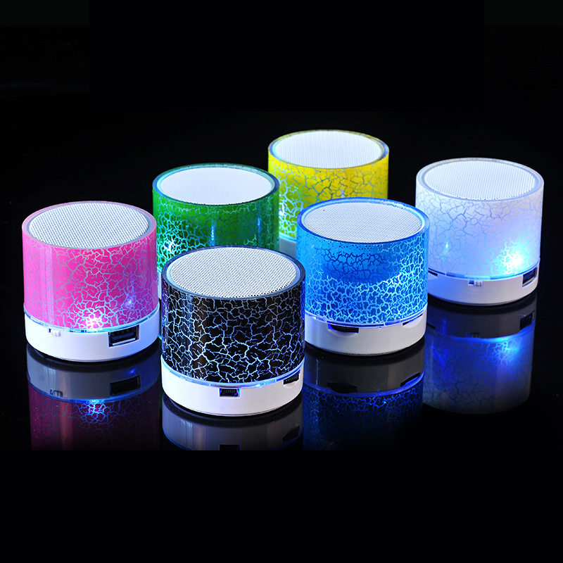 Column LED Mini Wireless Bluetooth Speaker TF USB Portable Music Loudspeakers Hand-free call For iPhone 6 Phone PC with Mic getihu portable mini bluetooth speakers wireless hands free led speaker tf usb fm sound music for iphone x samsung mobile phone