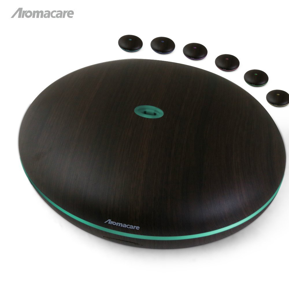 Aromacare Diffuser Dark Wood 400ml Ultrasonic Air Humidifier Essential Oil diffuser Aroma Diffuser Aromatherapy Household hot sale humidifier aromatherapy essential oil 100 240v 100ml water capacity 20 30 square meters ultrasonic 12w 13 13 9 5cm