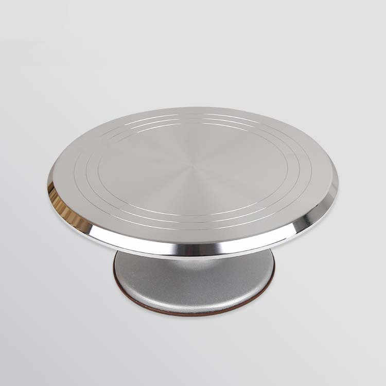 30cm Aluminum Alloy Cake Turntable Cake Rotating Decoration Stand Cake Revolving Decoration Display Stand