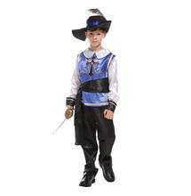 Children Day Boys Halloween Aristocratic Samurai Clothing Royal Warrior Cosplay Costume Kids Trench Coat