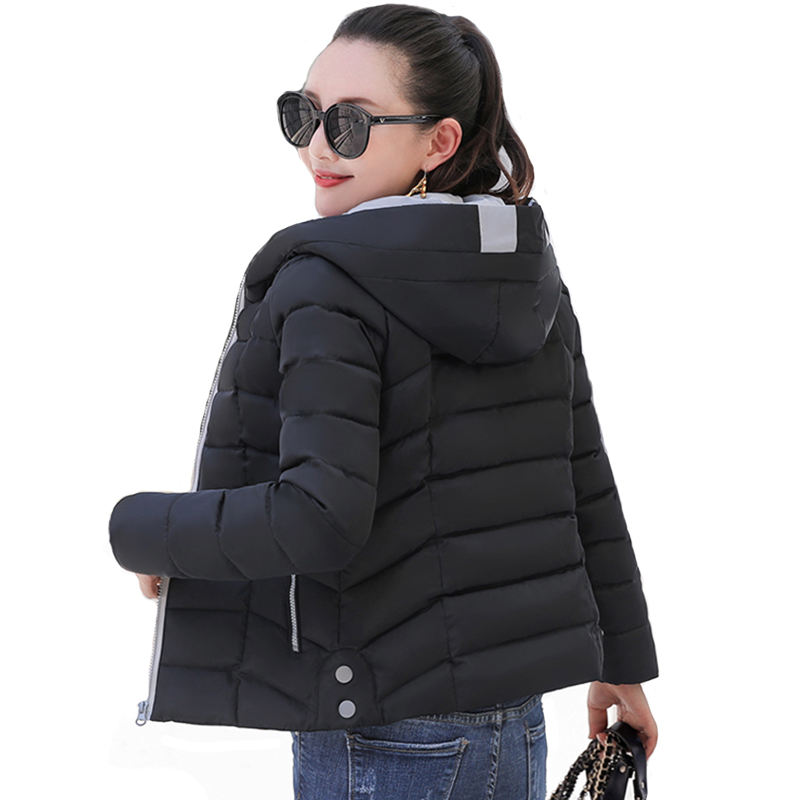 2019 New Design Winter Jacket Women Hooded Padded Outwear Autumn Female Coat Short Slim Womens Parka Casaco Feminino Inverno