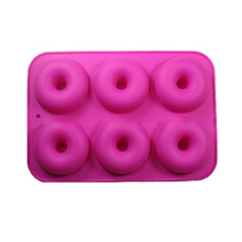 DIY Silicone Oven Baking Tool Solid Color 6 Piece Cake Mold Round Shape Handmade Soap Chocolate Making Home Kitchen Tools