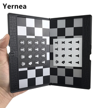 Yernea Magnetic Plastic Chess Folding Wallet Type Set Mini Portable Board Game Easy to carry Present Educational Gift