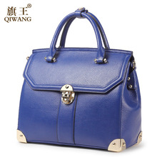 QIWANG Dangerous Metal 4 Corner Handbags for Women with Gold Lock Luxury Protect Well 100 Genuine