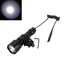 Tactical LED Weapon Hunting Flashlight Gun Torch Lamp 1600 lumens Rifle light With Mount +Press Switch