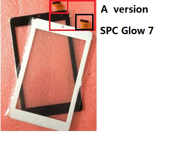 2 versions New 7 Tablet SPC Glow 7 or SPC GLOW 7 QUAD CORE Touch screen digitizer panel replacement glass Sensor Free Shipping for new touch screen panel digitizer glass replacement spc dark glow 10 1 3g octa core 10 1 inch white black free shipping