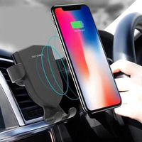 NS Qi Wireless Charger for Iphone 8/X Samsung S8/S8+ In Car ABS Shell Mobile Phone Holder for Car Phone Stand & Car Charger