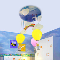 Детская комната радуги шар светодиодный Потолочные светильники Спальня Творческий мультфильм личности потолочный светильник фонарь возд