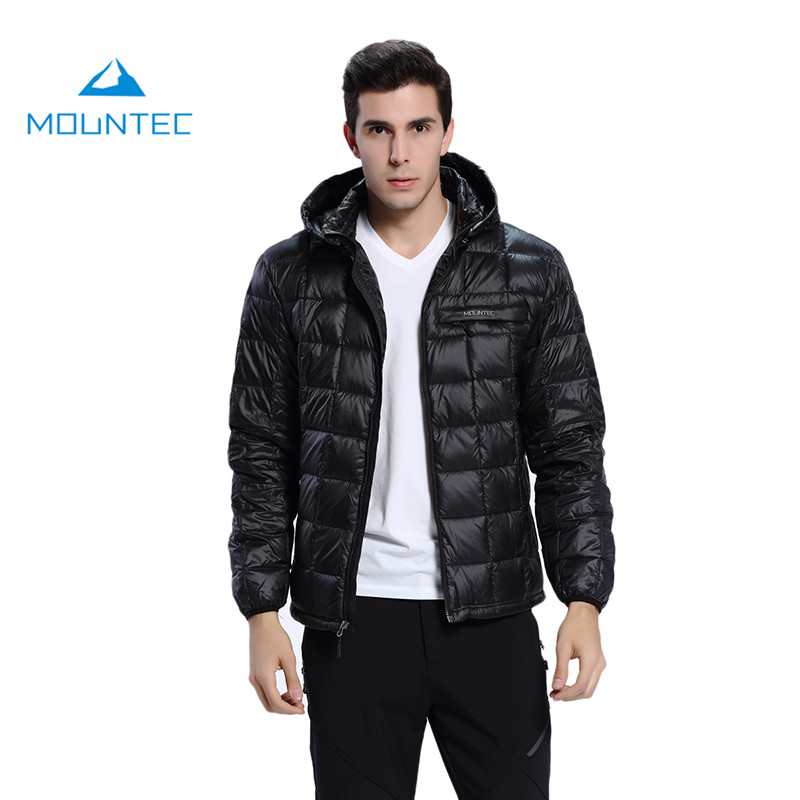 Mountec 2017 Climbing Down Jacket Men Sport Waterproof Windproof Nylon Thermal Suit Outdoor Black Blue Gray Camping Down Jackets
