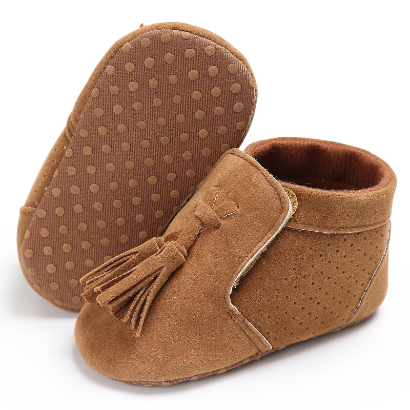 New Style PU Suede solid Leather Newborn Infant Toddler princess fringe Baby Moccasins Soft sole Baby Boys Girls Shoes 0-18M
