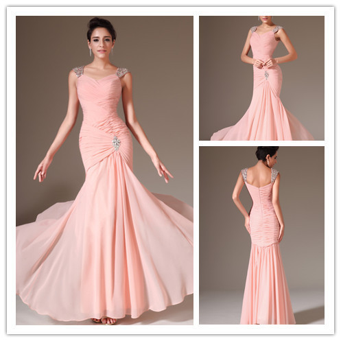 Popular Pink Mermaid Prom Dress-Buy Cheap Pink Mermaid Prom Dress ...