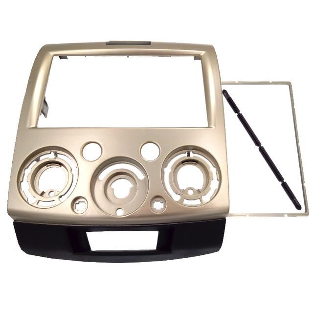 Color dorado Fascia 2DIN Radio de Coche para FORD Ranger 2006-2010, Everest 2006 + MAZDA BT-50, BT50 2006 + Frame Panel kit Del Bisel
