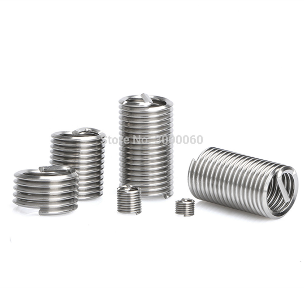 M2 M2.5 M3 M4 M5 M6 Stainless steel 304 threaded protection wire sleeve heli coil spring thread inserts for repair thread m2 m2 5 m3 m4 m5 m6 stainless steel 304 threaded protection wire sleeve heli coil spring thread inserts for repair thread