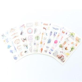 Etiquetas engomadas decorativas para cuadernos para uso diario para estudiantes escolares de Corea del Sur, pegatinas para manualidades de caramelo para cuaderno de viaje
