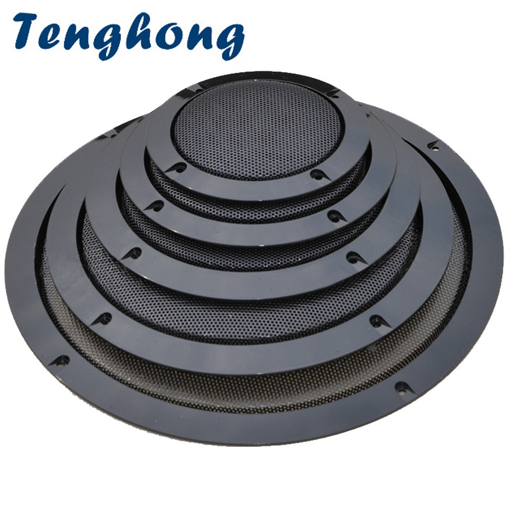 Tenghong 2pcs Audio Speaker Cover Round Speakers Protective Cover Mesh Net Grille 2/3/4/5/6.5 Inch For Loudspeaker DIY Assembly