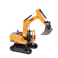 Simulation toy RC excavator toys with Musical and light Children's Boys RC truck Beach toys RC Engineering car tractor