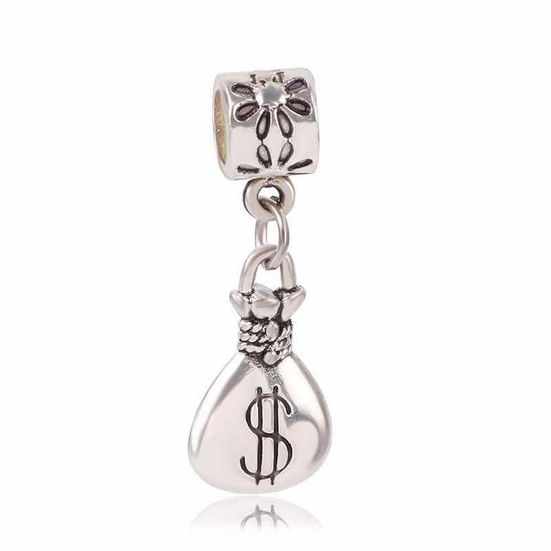Dodocharms מקורי כסף צבע קסמי פרפר עץ כתר אמא CZ קריסטל חרוזים לפנדורה צמידי DIY תליון תכשיטים