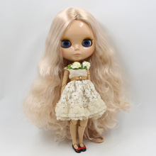 Factory Neo Blythe Doll Golden Wavy Hair Jointed Body 30cm