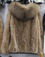 Натуральный женский мех норки пальто Верхняя одежда Пальто