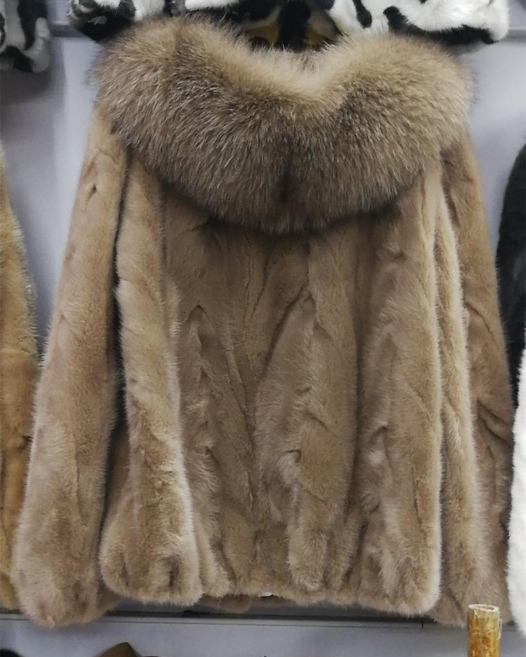 Natural Real Women's pieces of mink fur coat outerwear coats