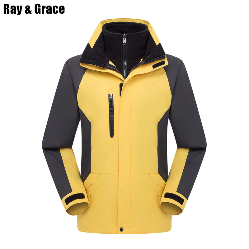 RAY GRACE Ski Jacket Men Waterproof Windproof Winter Snow Thermal Coat For Outdoor Mountain Skiing Snowboard Jacket Women Hiking promotion 6pcs owl baby bedding sets crib set 100