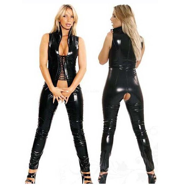 Сексуальная облегающая одежда кожаная