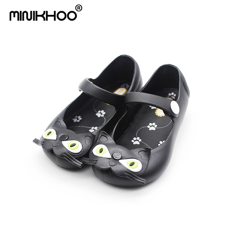 9d3fce07e Aliexpress.com   Buy Mini Melissa Cats Girl Jelly Sandals Jelly Shoes  Buckle Cat Brazil Princess Sandals Baby Shoes Children Beach Shoes Girl  Sandals from ...