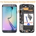 Azul para samsung galaxy s6 edge sm-g925f lcd screen display toque digitador assembléia + moldura do quadro + ferramentas peças frete grátis