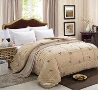 220*240 см зимнее одеяло 100% верблюжья шерсть одеяло стеганое одеяло король покрывало alicoco одеяло для волос dekbedden doona Edredon