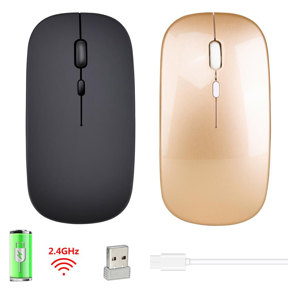M80 Rechargeable Wireless Mouse Mute 2.4G Slim Mute Silent Click Office Mouse 500 MAh Built - In Battery 2.4G Wireless Mouse