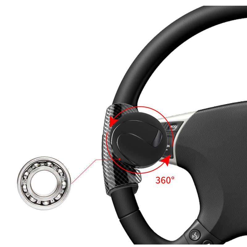 Black Steering Wheel Spinner Knob Universal Car Steering Wheel Knob Power Handle Ball Wheel Booster