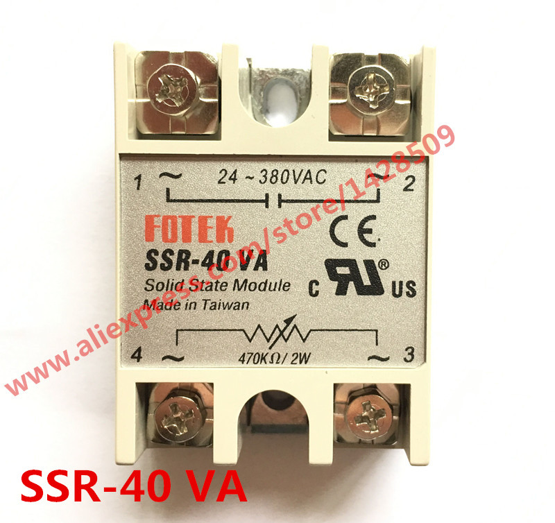 High Quality 1 Piece Resistance Type Voltage Regulator Solid State Relay SSR-40VA 470K Ohm 2W TO 24-380V AC SSR high quality ac ac 80 250v 24 380v 60a 4 screw terminal 1 phase solid state relay w heatsink