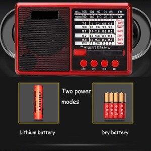 Image 5 - JINSERTA Portable FM/AM/SW Radio Multi Band HI FI Radio Speaker with Flashlight Support TF Card/U Disk Headphone Play
