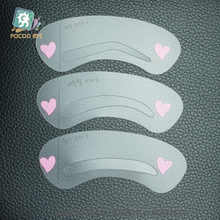 3 pcs/set Grooming Shaping Template 3 Styles DIY Eyebrow Drawing Card Brow Make-Up Stencil make up tools Fashion Design(China)