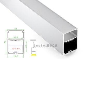 10 Sets/Lot U LED aluminum profile Extruded Aluminium led profile LED aluminum Channel with internal driver for pendant lighting