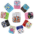 Free shipping 1pc/lot baby cloth diaper nappy printed pul bamboo charcoal inner double gussets color tab color snaps wholesale