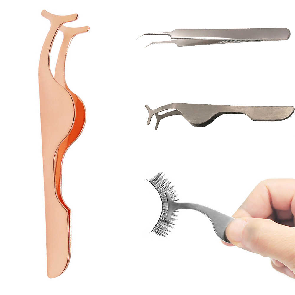 Beauty Tools Multifunctional False Eyelash Tweezers Makeup  Nipper Auxiliary Clip Clamp Makeup Forceps Beauty Accessories Tools