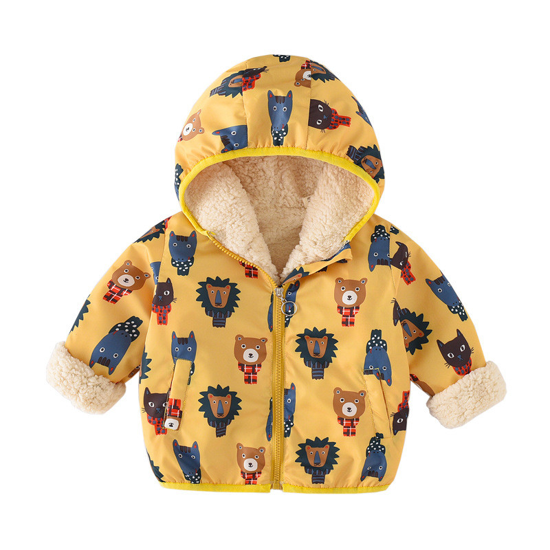80f978d4a Baby Girl Winter Clothes Fashion Ears Hooded Keep Warm Newborn Baby  Snowsuit Baby Girl Winter Coat Snow Clothes For Kids Boy