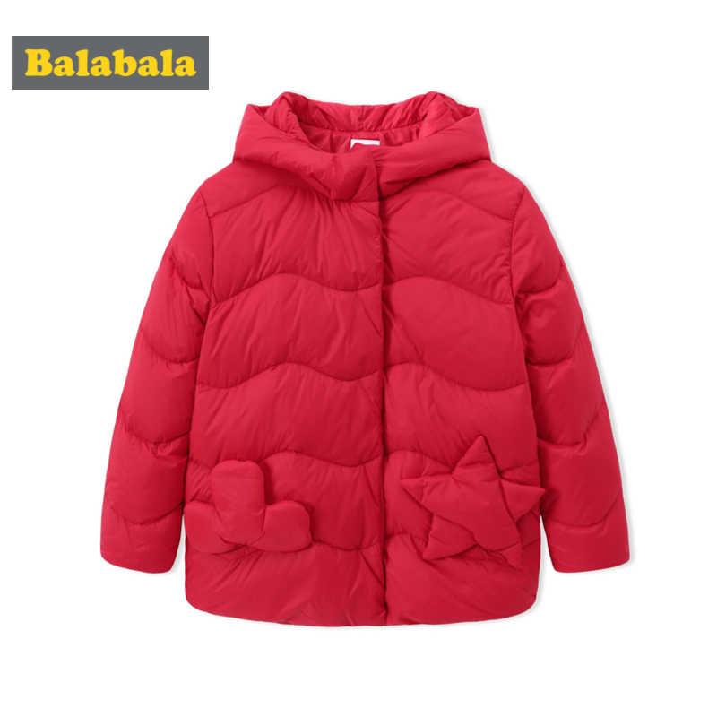 Balabala Kleinkind Mädchen Stepp Lighweight Unten Jacke mit Applique Kinder Mit Kapuze Puffer Jacke mit Snap Verschluss in Chinlon Gefüttert