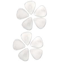 10pcs Guitar Pick 0.3mm Stainless Steel Metal Electric Guitar Bass Picks Plectrums US#V