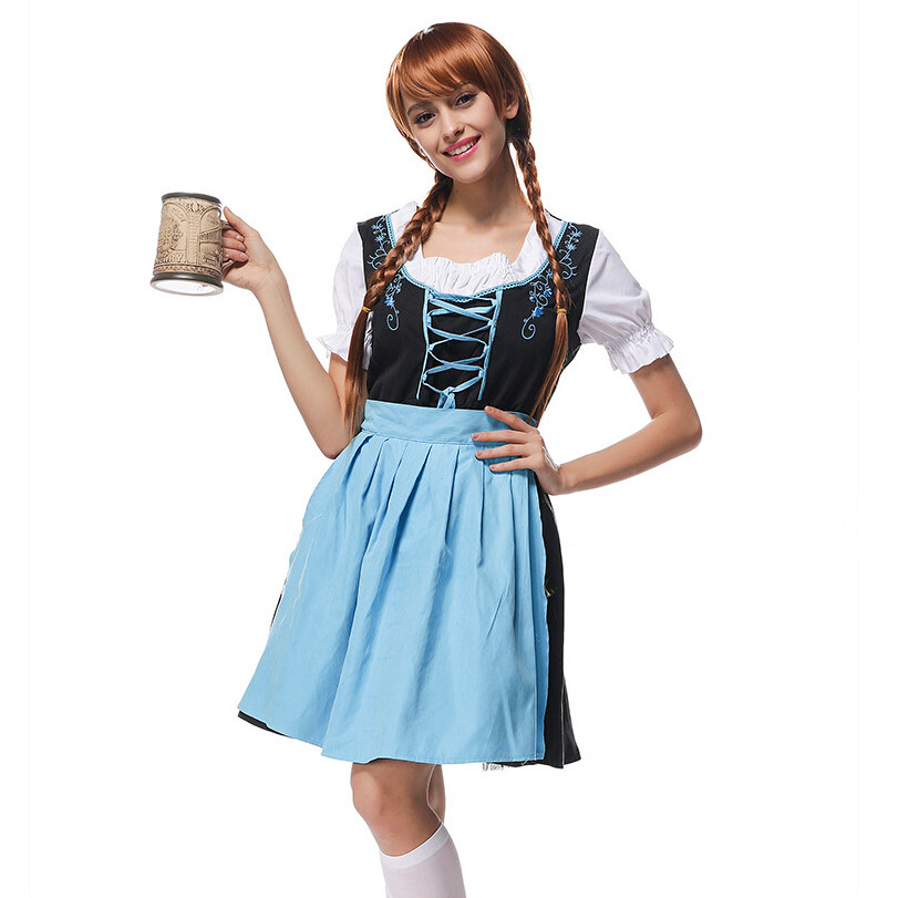 Vocole Sexy German Oktoberfest Costume Beer Maid Wench Bavarian Heidi Dirndl  Fancy Dress Bar Party Holloween Cosplay M L XL