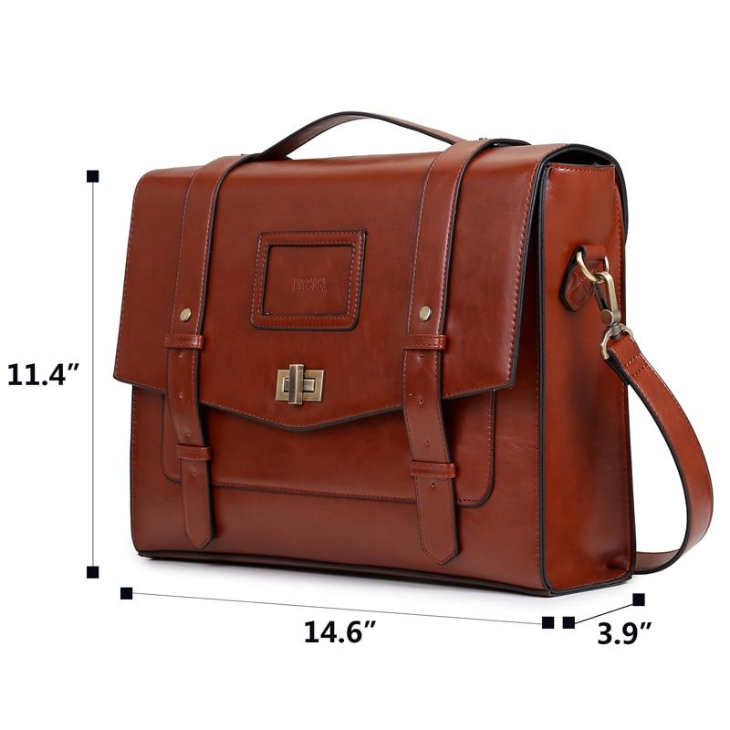 ECOSUSI New Design női Messenger táskák Vintage PU bőr táska - Kézitáskák - Fénykép 2