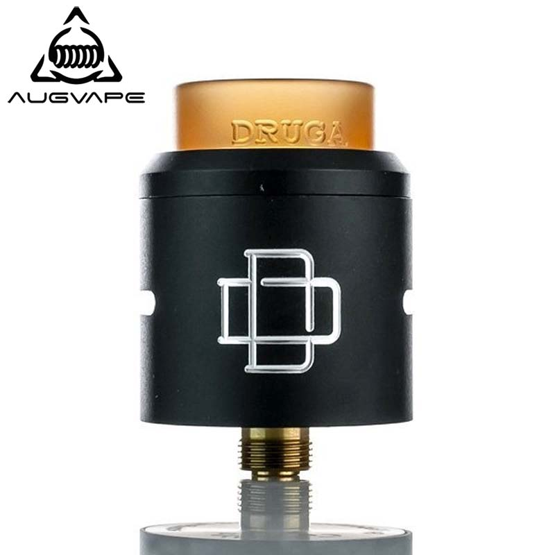 Augvape Druga RDA atomizer 24mm Clamp Snag System 810 Drip tip with Gold Plated Brass Pin And SS Squonk Pin E-cigarette rda tankAugvape Druga RDA atomizer 24mm Clamp Snag System 810 Drip tip with Gold Plated Brass Pin And SS Squonk Pin E-cigarette rda tank