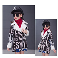 new 2015 autumn winter fashion turn down woolen girls coat casual long children jacket suit 5~9 age baby girl woolen coat  L2172